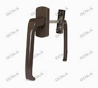 Балконный ассиметрический гарнитур для дверей ПВХ, коричневый