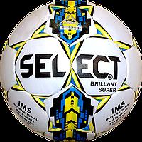 Мяч футбольный Select Brillant Super Бел./Жел./Син.