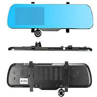 5 дюймов 1080P HD Авто Видеорегистратор Зеркало заднего вида двойное Объектив Передний задний камера рекордер