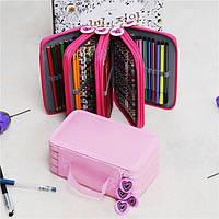 72 отверстий 4 слоя мешка ручки пенал стационарно сумка дорожная сумка косметические кисти для макияжа хранения