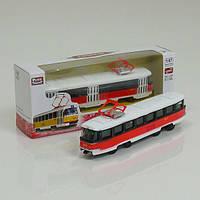 JT Трамвай металлопластик 6411 D (96/4) инерция, в коробке
