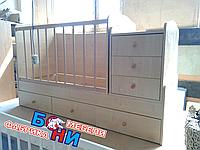 Кровать-трансформер Бони  Карапуз 3 в 1 (ТК-15) Дуб молочный