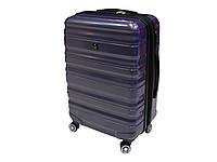 Большой пластиковый чемодан из поликарбоната на 4-х колесах. Airtex 7299
