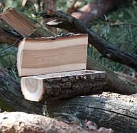 Деревянная шкатулка для колец и украшений № 11