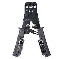2 в 1 сети инструмент для тестирования опрессовки LM-022 обжимной инструмент съемный кабельный тестер RJ45 оригинал