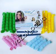 Волшебные спиральные бигуди Hair Wavz Хейр Вейвз для средних волос 50 см 16 шт, фото 1