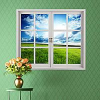 Луговые 3d искусственное окно просмотра синий Sky 3d наклейки для стен комнаты Pag стикеры стены дома подарок декора