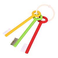 3шт ключ формы ванной раковины умывальника кухни зазора щетка для стирки щетка для очистки