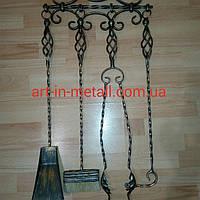 """Настенный набор из 4х аксессуаров для камина и мангала """"Фея"""""""