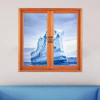 Айсбергов 3d искусственные стены отличительные знаки окна просмотра 3D-фригидной барьер наклейки Паг домашнего декора стены подарок