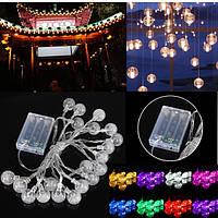 3M 20LED Батарея Bubble Ball Fairy String Lights Сад Party Christmas Свадебное Decor