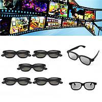 5 шт пассивных поляризованных 3D очки для Panasonic LG Sony Samsung 3D-телевизоры монитор 3D кино фильм