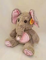Слон слоник музыкальный плюшевый мягкая игрушка приятный на ощюпь мягкий качественный поет как слон