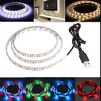 100см 60 СМД 3528 USB LED полоса RGB свет водонепроницаемый 5v IP65