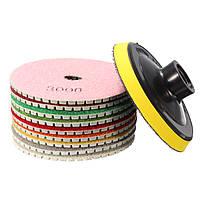 10pcs 4 дюйма от 30 до 3000 грит полировки алмазов колодки комплект для гранита мрамора бетона