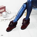 """Зимние ботинки """"R_berto C_valli"""" с меховым отворотом 37 38"""