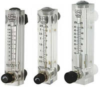 Ротаметр (120-1080 л/час) панельный  с регулятором потока (расходомер) LZM-15ZT-18