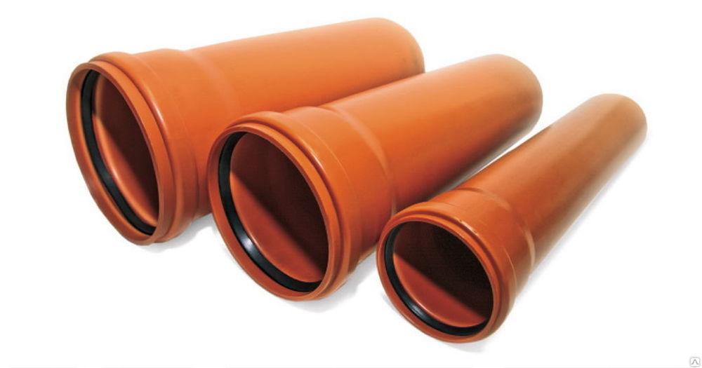 Труба для наружной канализации SN2 200 мм длинна 3 метра Мпласт