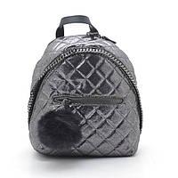 Темно-серый женский стеганый рюкзак D. Jones , фото 1