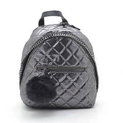 Темно-серый женский стеганый рюкзак D. Jones
