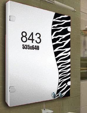 """Шкафчик зеркальный в ванную (навесной шкафчик) м""""843"""""""