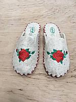 Женские комнатные тапочки из натуральной шерсти с вышивкой TwoBB 1223-1