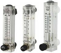 Ротаметр для воды (60-420 л/час) панельный  с регулятором потока (расходомер) LZM-15ZT-7