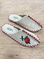 Женские комнатные тапочки из натуральной шерсти с вышивкой TwoBB 1223-2