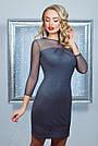 Нарядное облегающее женское платье, бордовое, креп-дайвинг, размер 44-48, фото 4