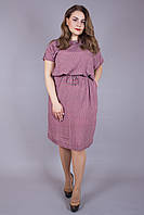 Платье большого размера Виолетта узор корал