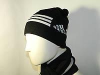 Комплект Шапка+перчатки муж. Adidas (арт.564906)