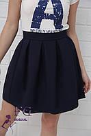 Юбка женская «Беверли» - распродажа модели темно-синий, 46, фото 1