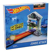 Трек Атака Зомби Hot Wheels преодолеваем зомби-преграду