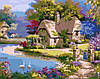 AS0029 Набор-раскраска по номерам Домик из сказки