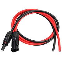 3.5 футов черный mc4 10AWG mc4 солнечный зачистки кабеля разъем мужской розетка