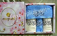 Полотенички 4шт Merpatti Sakura 100% хлопок махра - 2 банных + 2 для лица-Разные модели