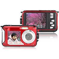 Amkov W599 24MP 2.7-дюймовый двойной экран водонепроницаемый анти-толчка 16x зум камеры 1920x1080 HD