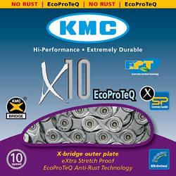 Цепь KMC x10 EPT (EcoProTeq), 10 скоростей