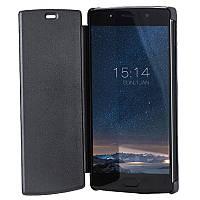 Чехол-книжка + защитное стекло Doogee BL7000 Black для смартфона