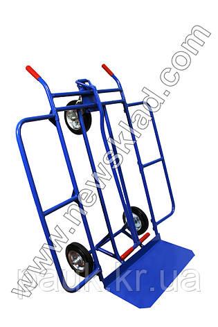 Металевий візок-трансформер, складський візок, кравчучка, фото 2