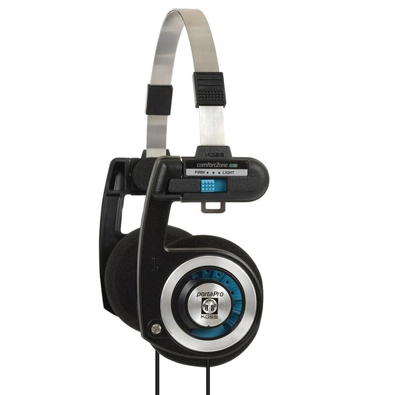 Оригинальные наушники Koss Porta Pro Classic. Цвет черный с синим.