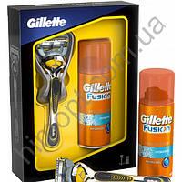 Подарочный набор Gillette Fusion Proshield с 1 сменной кассетой и гель для бритья бритья Hydra gel 75 мл