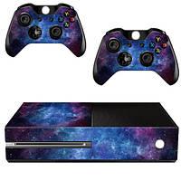 Туманность кожи крышки протектора стикера обернуть для Xbox One Консоль+2 контроллера