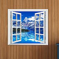 Айсберг Просмотр 3D искусственный вид окна 3d отличительные знаки стена номер наклейки Паг подарок декора стены дома
