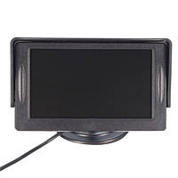 4,3 дюйма Авто TFT LCD Монитор Реверсивная парковка Вид сзади камера Запись видеомагнитофона Sunshade Набор