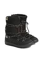Сноубутсы женские черные, луноходы (moon boot) Vices T066-1