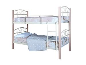 Кровать металлическая двухъярусная Лара Люкс Вуд