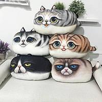 3d творческий С.хлопок мило кошка плюшевые подушки спинки печать подушки подарок на день рождения трюк игрушки