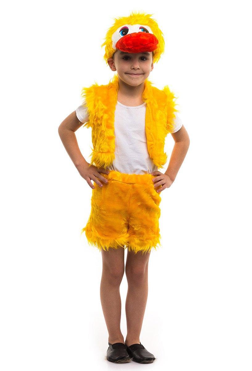 """Детский карнавальный меховой костюм """"Утенок"""" для мальчика"""