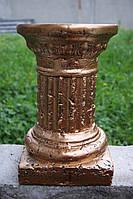 Декоративная колонна малая 33 см (бронза) постамент подставка стойка свадебная тумба